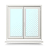 Plastic Window Vector. Home Window Design Concept. Isolated On White Background Illustration