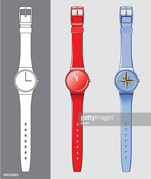 plastic wristwatch - goodie bag stock illustrations, clip art, cartoons, & icons