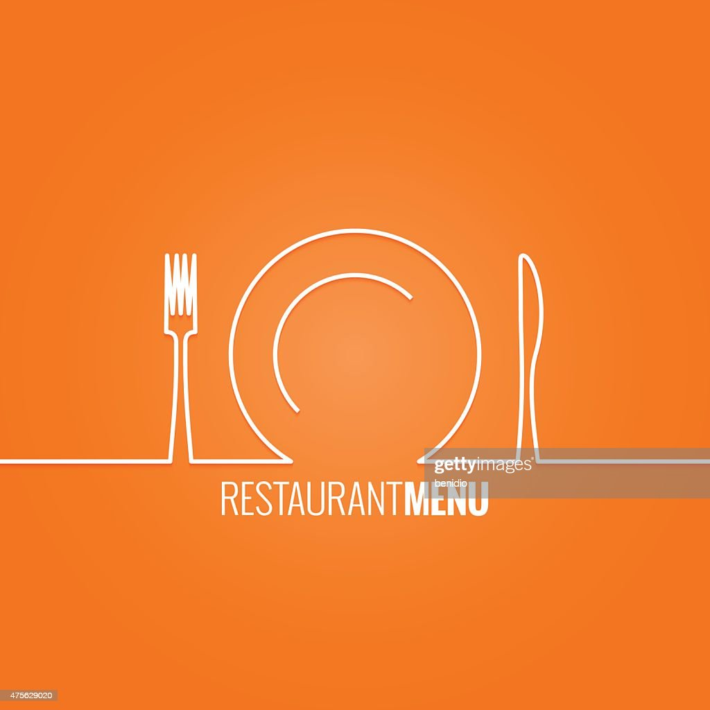 plate fork knife design background