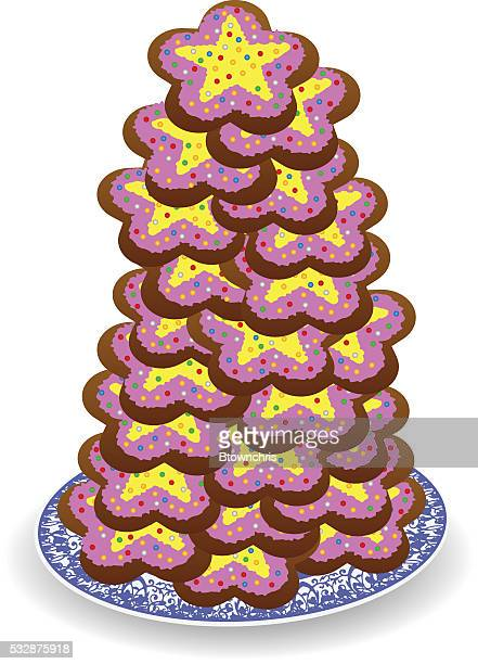plate of cookies - dessert topping stock illustrations, clip art, cartoons, & icons