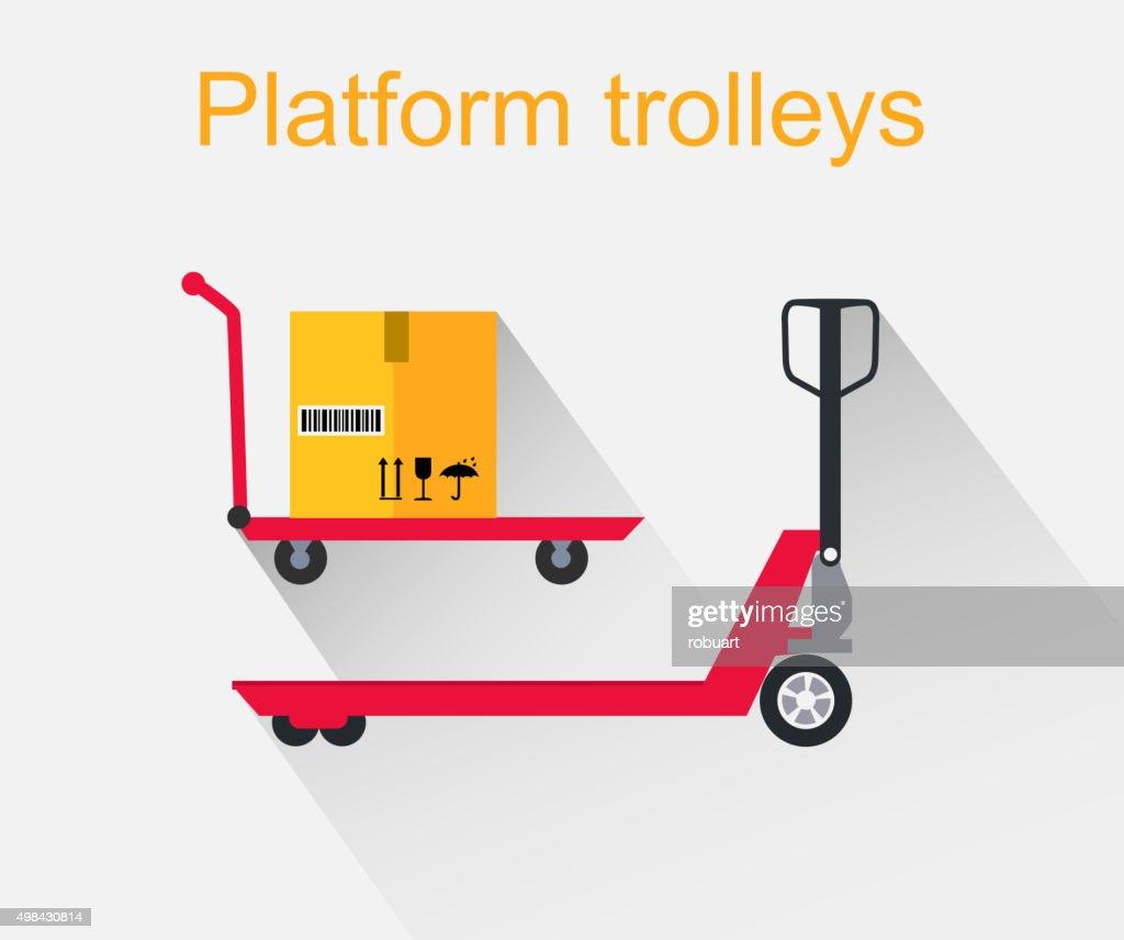 Platform Trolleys Icon Design Style