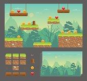 Platformer game design set