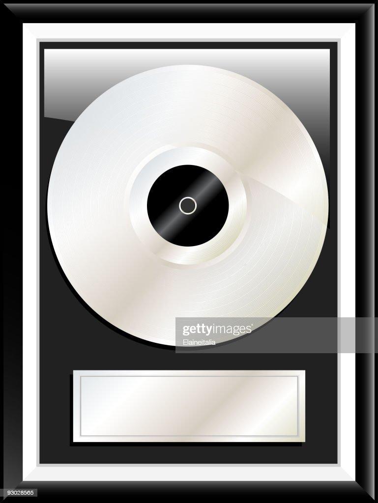 Platinum disc illustration