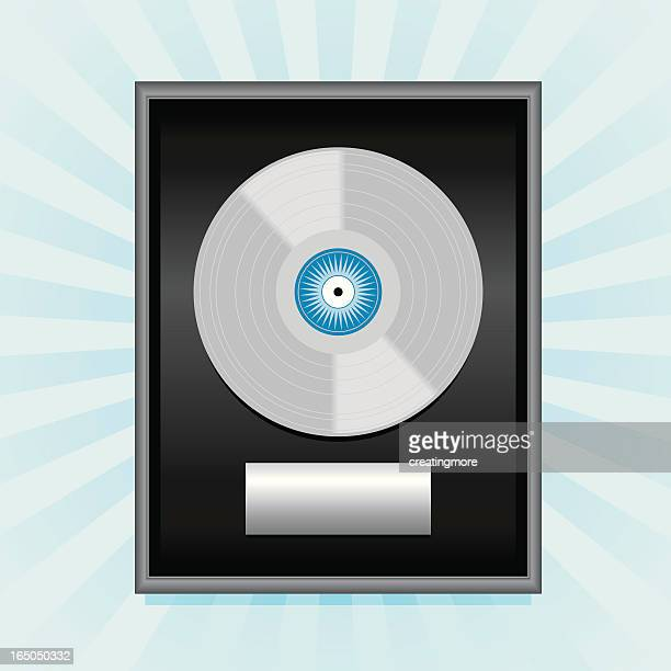 platinum record - award plaque stock illustrations, clip art, cartoons, & icons