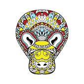 Platypus, animal totem for adult anti stress Coloring