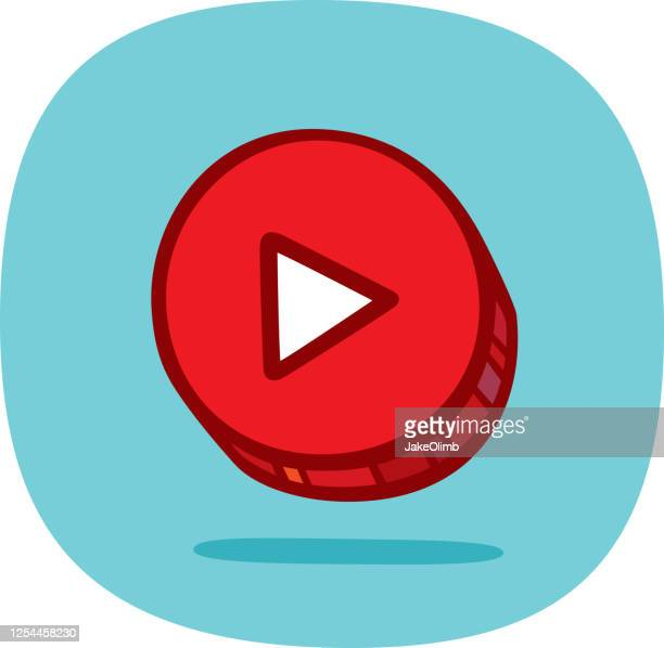 play button doodle 3 - play off stock illustrations