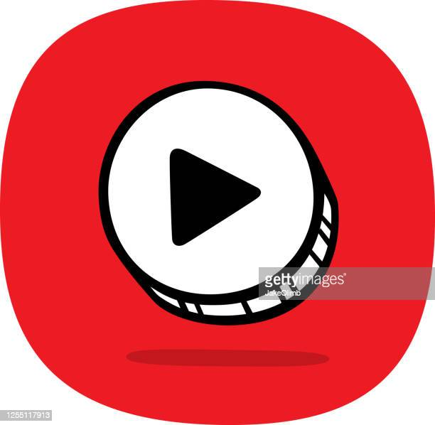 play button doodle 4 - play off stock illustrations