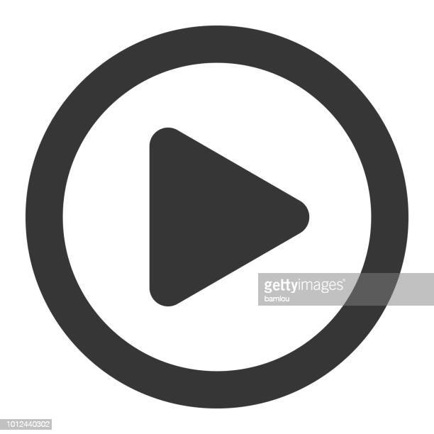 play button icon - playing stock-grafiken, -clipart, -cartoons und -symbole