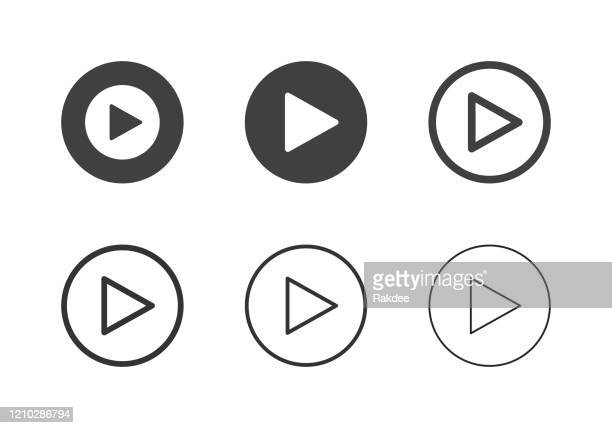 button icons abspielen - multi-serie - playing stock-grafiken, -clipart, -cartoons und -symbole