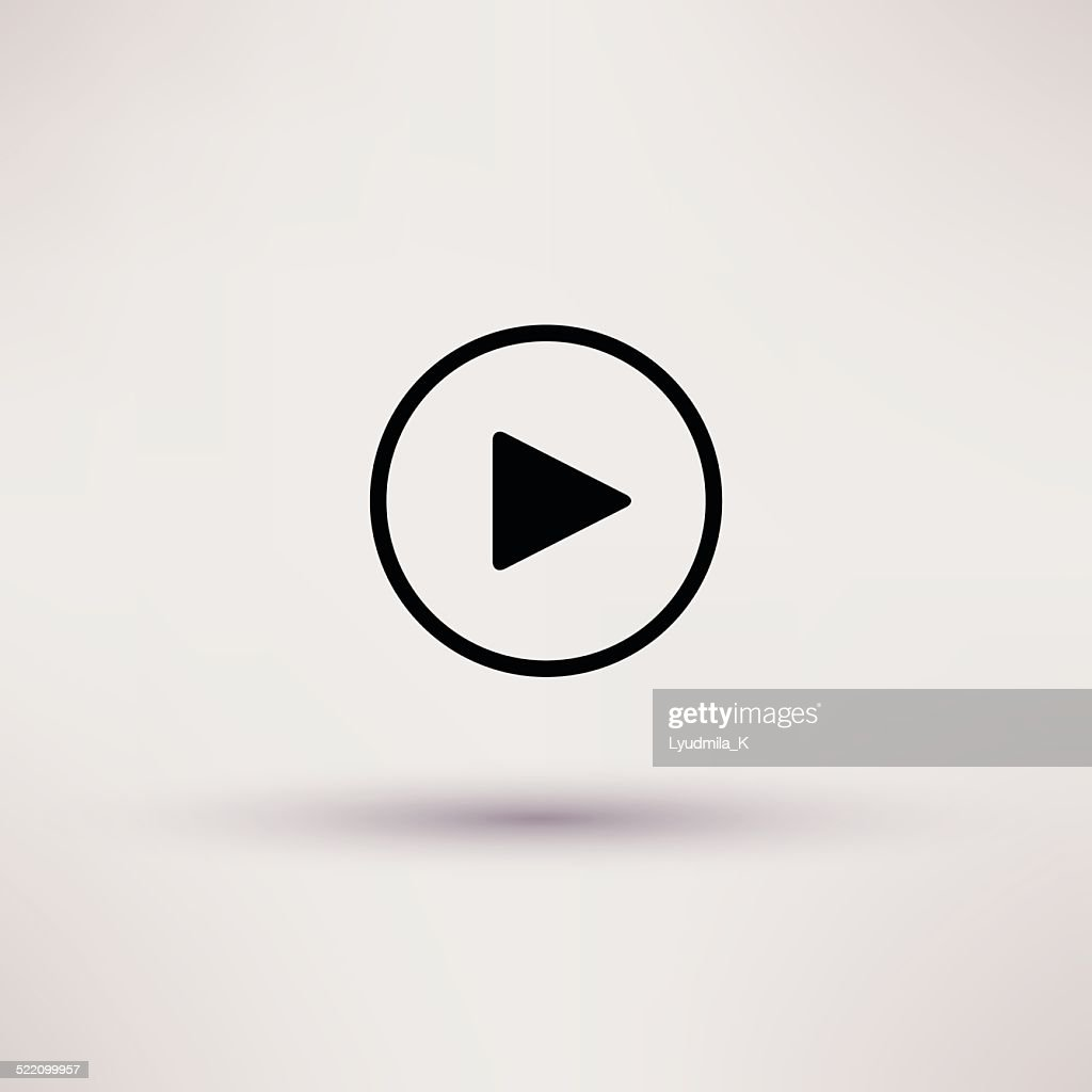 Play button web icon Isolated Vector illustration.