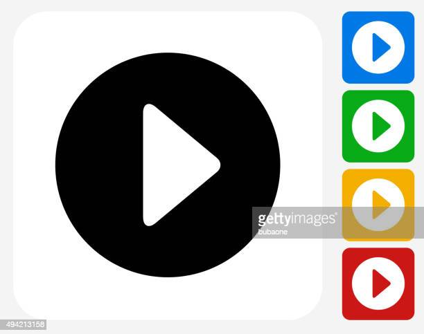 play icon flat graphic design - video camera stock illustrations, clip art, cartoons, & icons