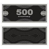 Play money. Five hundred