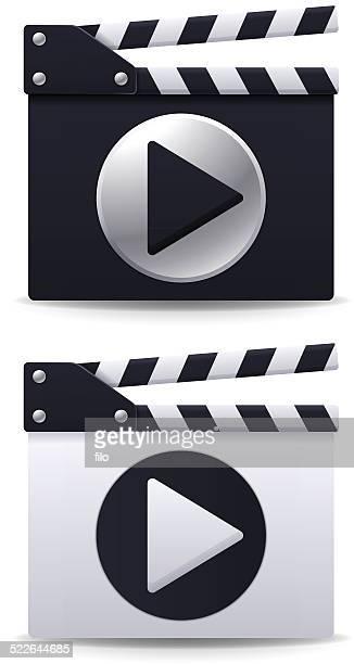 play movie media symbols - cannes stock illustrations, clip art, cartoons, & icons