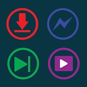 play music, downloading, icon,vector
