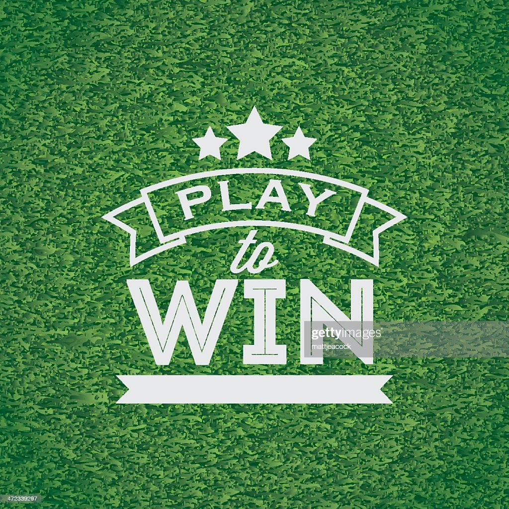 Play to win banner : stock illustration