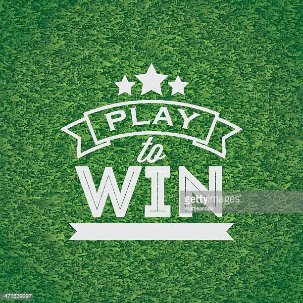 stockillustraties, clipart, cartoons en iconen met play to win banner - sporting term