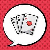playcard doodle, speech bubble