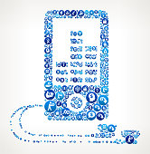 MP3 Player  Money Blue Icon Pattern Background