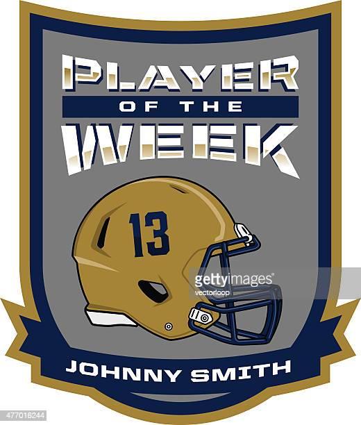 player of the week - football helmet stock illustrations