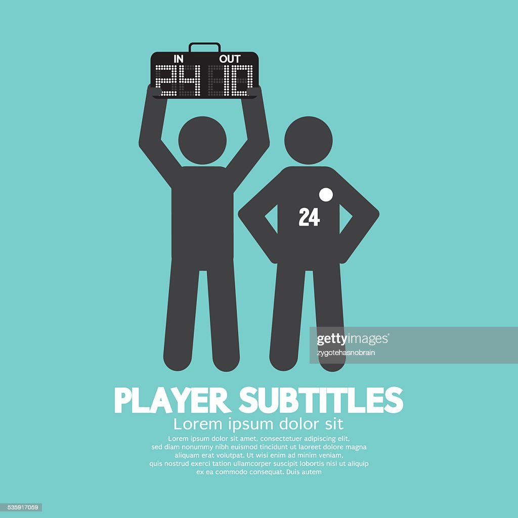 Player Substitution Graphic Symbol : Vector Art