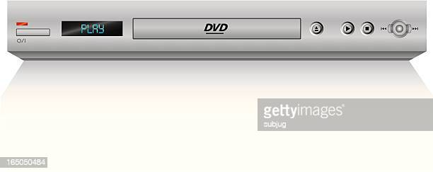 dvd player (vector) - dvd stock illustrations