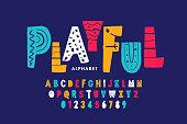 Playful style font