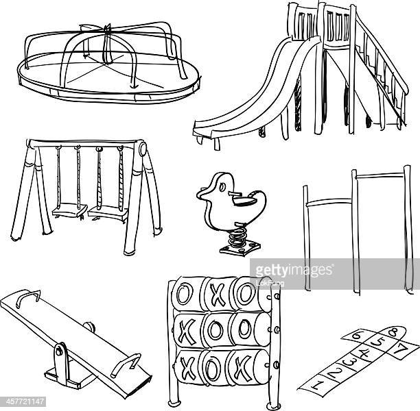 Playground collection in black and white