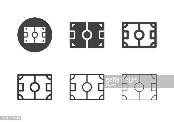 遊び場のアイコン - マルチシリーズ - 球技場点のイラスト素材/クリップアート素材/マンガ素材/アイコン素材