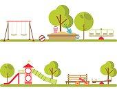 Playground infographic elements vector.