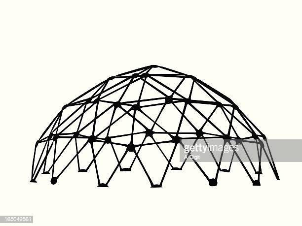 playground vector silhouette - dome stock illustrations