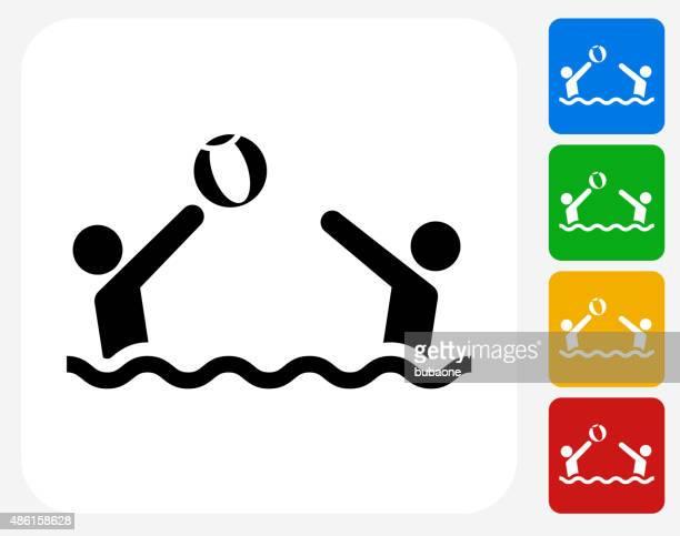 Jogar Bola de Praia ícone Flat Design gráfico