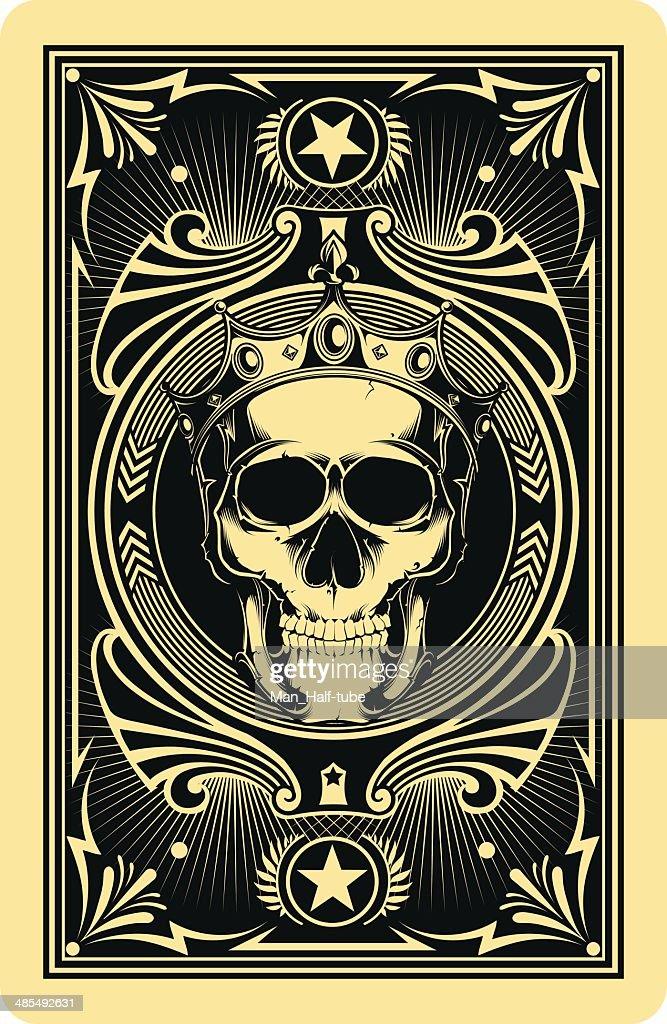 Der Rückseite Spielkarte : Stock-Illustration