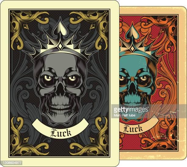 ilustrações, clipart, desenhos animados e ícones de design de cartas de jogo - coroa enfeite para cabeça