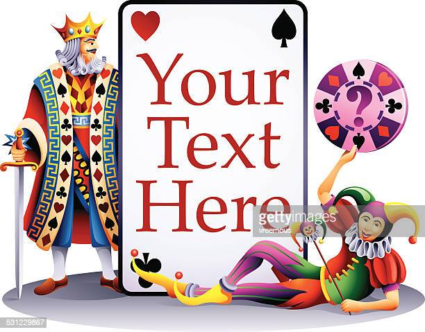 playing card frame - joker card stock illustrations, clip art, cartoons, & icons