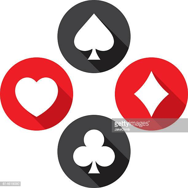 Playing Card Icons Flat Set