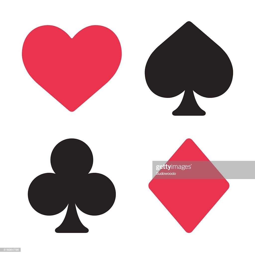 Playing card symbols set