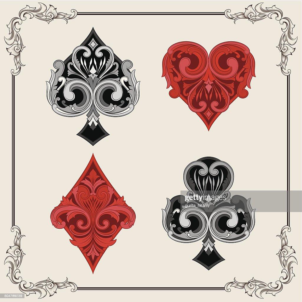 Playing Card Vintage Ornamental