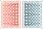 Playing cards back gamma