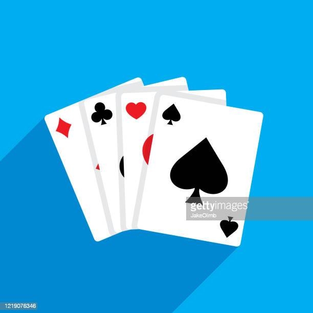 playing cards flat - suit stock illustrations