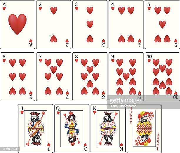 Playing Cards - Hearts Suit