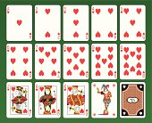 Playing cards of Hearts