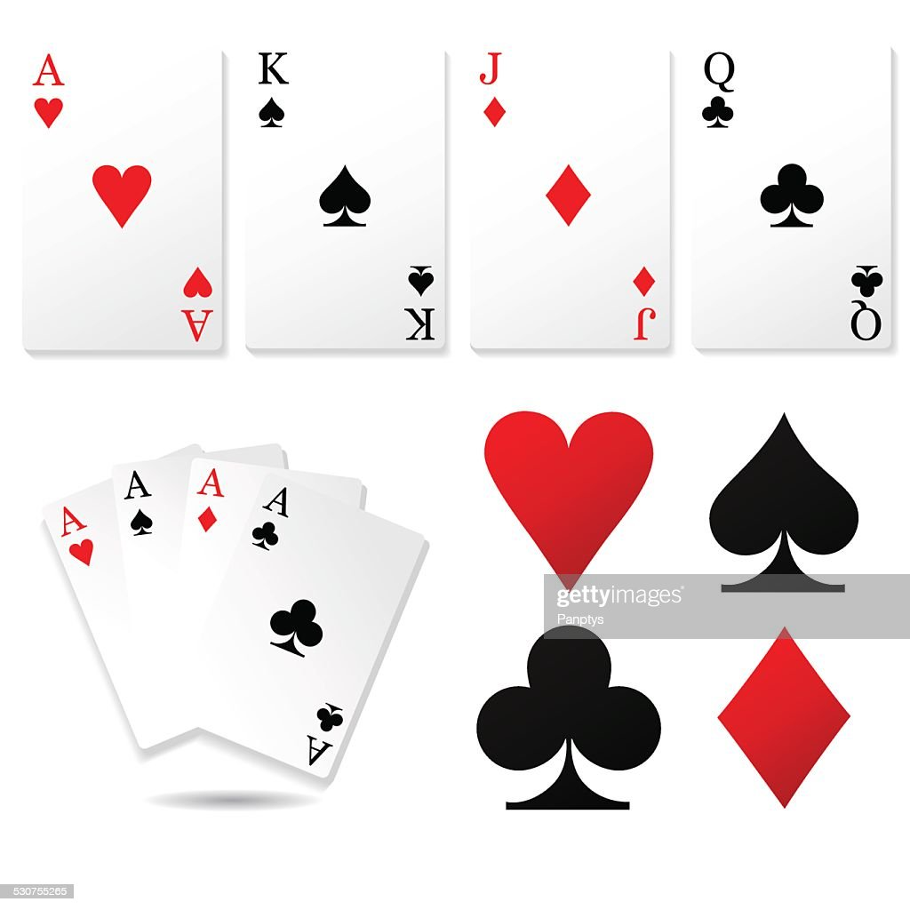 Playing cards set.