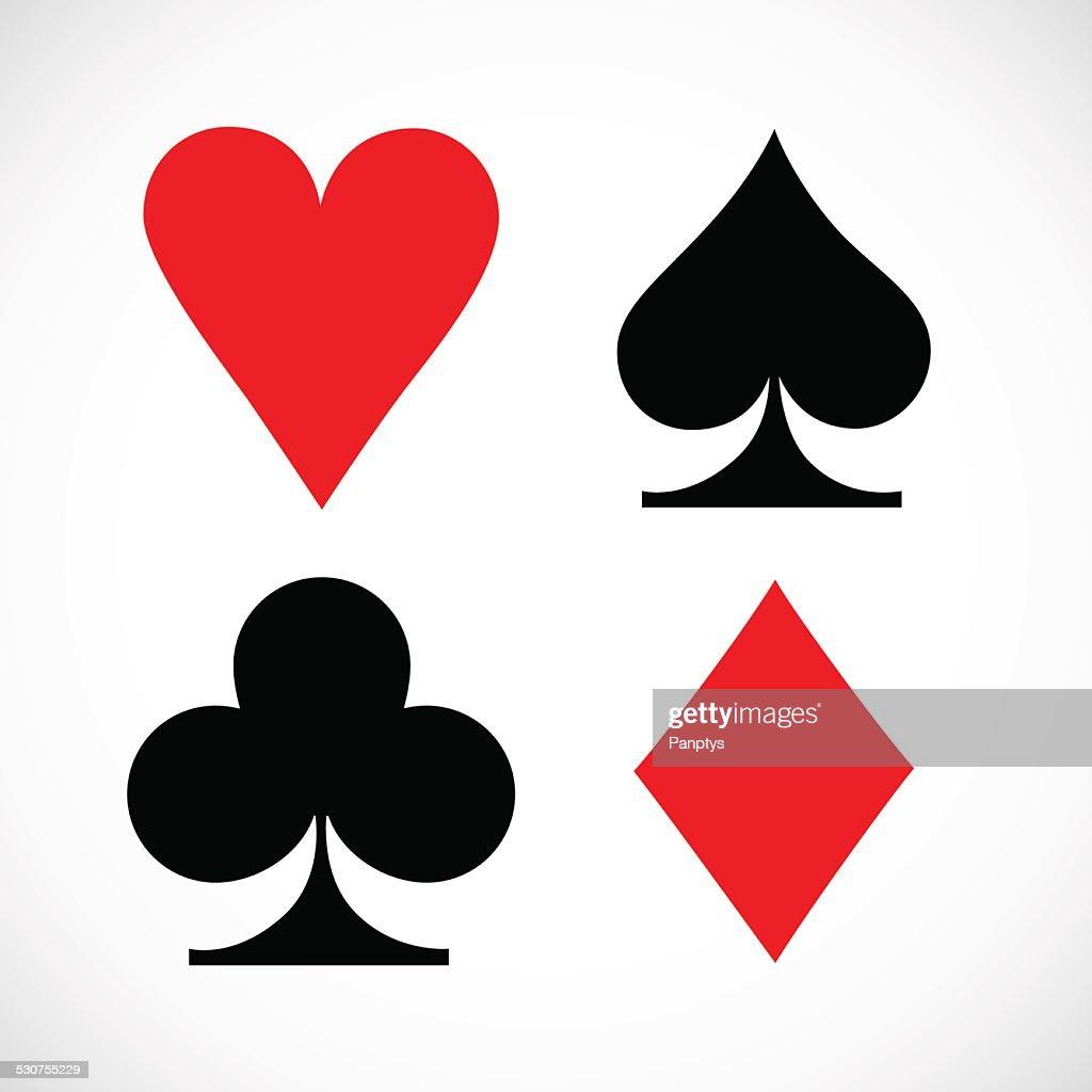 Playing cards symbols.