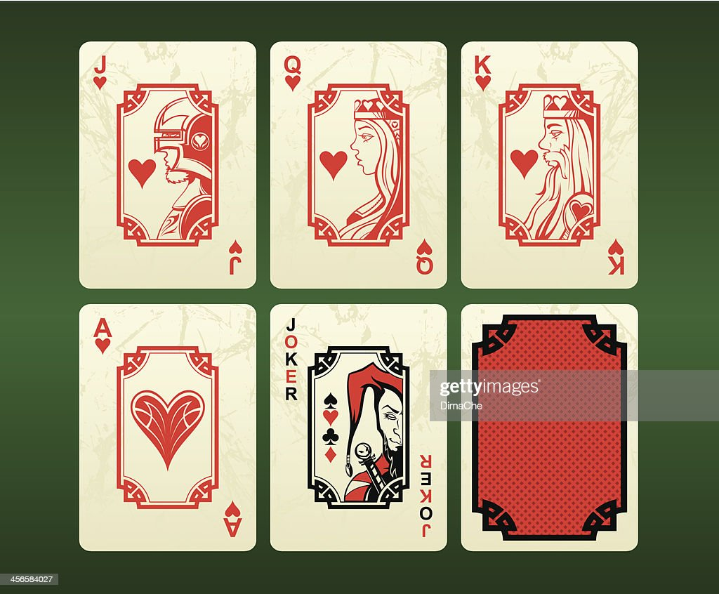 Playing cards (hearts)