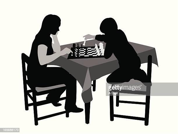 ilustraciones, imágenes clip art, dibujos animados e iconos de stock de playingchess - tablero de ajedrez