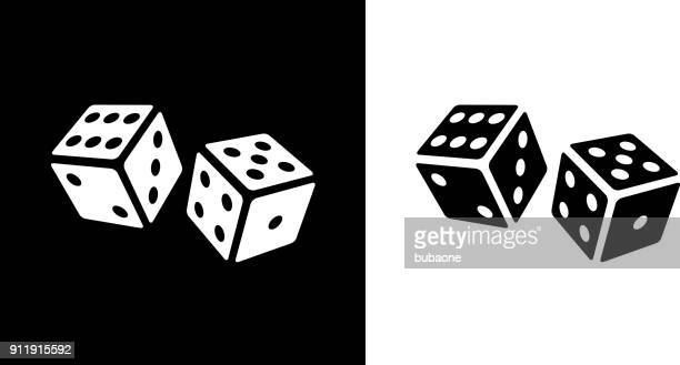 playing cubes rolling dice. - dice stock illustrations