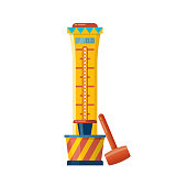 Playing fair strength test game. Attraction for measuring strength
