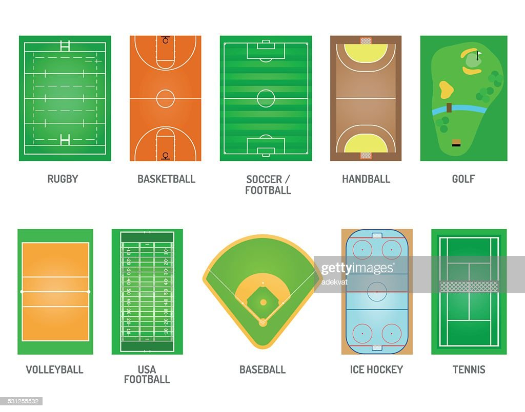 Playing fields vector set