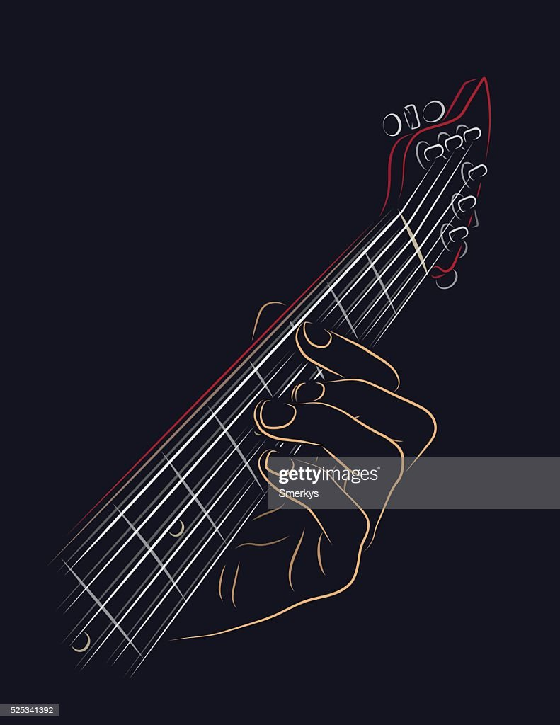 Playing guitar chord