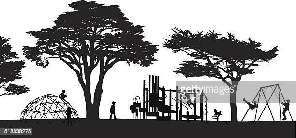 ilustraciones, imágenes clip art, dibujos animados e iconos de stock de playland - parque infantil